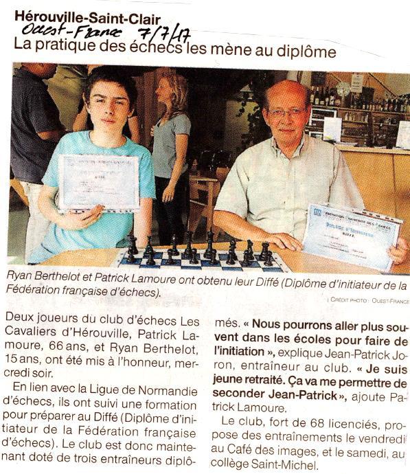 Article Ouest France à l'occasion de la remise de diplômes